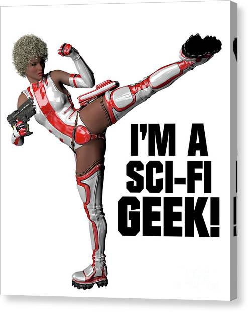 Boobies Canvas Print - I'm A Sci-fi Geek by Esoterica Art Agency
