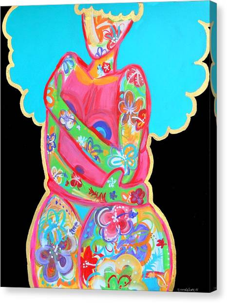 Bright Canvas Print - Im A Work Of Art by Diamin Nicole