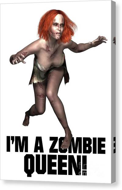 Boobies Canvas Print - I'm A Zombie Queen by Esoterica Art Agency