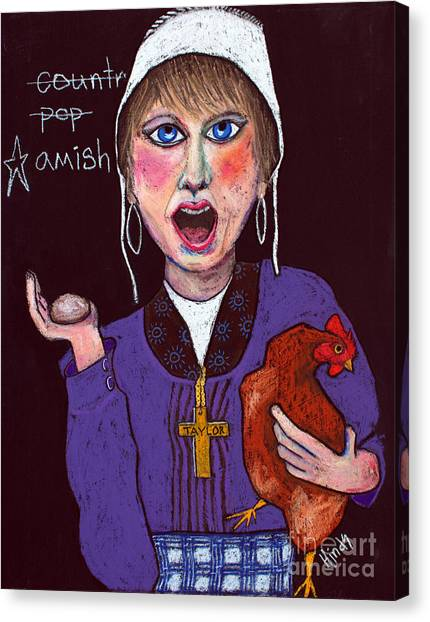 Taylor Swift Canvas Print - I'm Amish by David Hinds