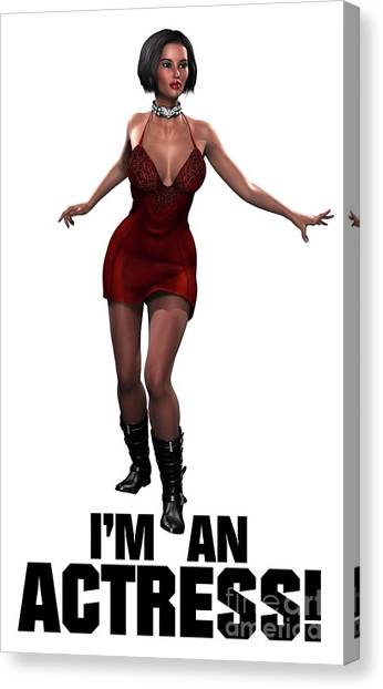 Boobies Canvas Print - I'm An Actress by Esoterica Art Agency