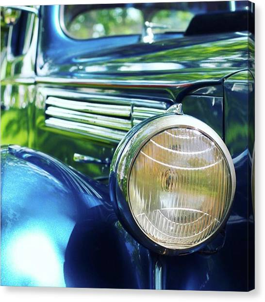 Automobiles Canvas Print - Vintage Packard by Heidi Hermes