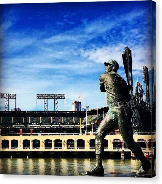 San Francisco Giants Canvas Print - I'm Ready by Paul Staphorsius