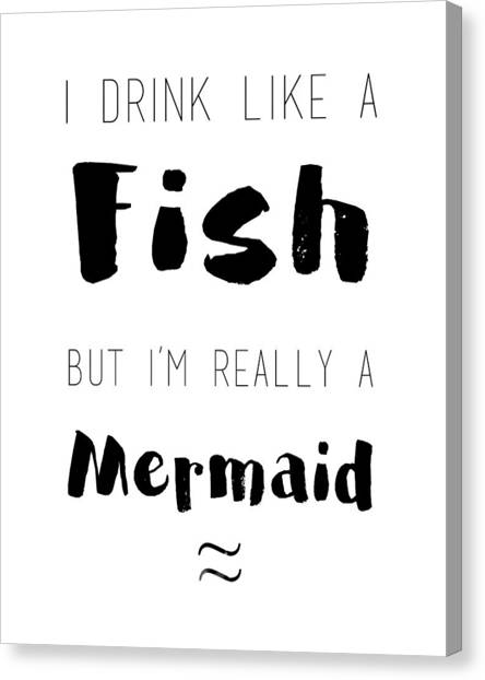 Mermaids Canvas Print - I'm Really A Mermaid by Pati Photography