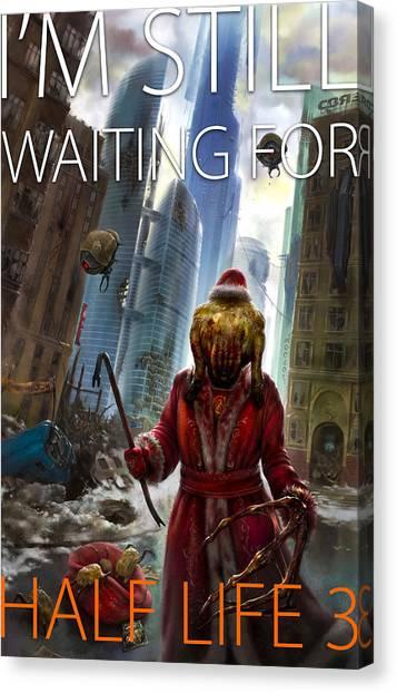 Half Life Canvas Print - I'm Still Waiting For Half Life 3 by Eldar Zakirov