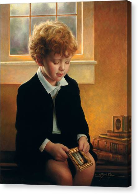 Boy Canvas Print - I'm Trying To Be Like Jesus by Greg Olsen