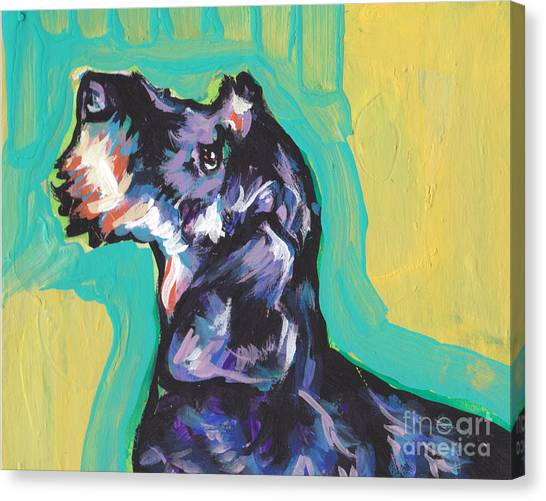 Dachshund Canvas Print - I'm Wired Up by Lea S