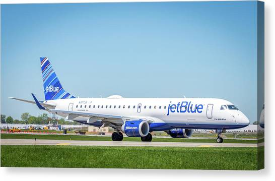 Jetblue Canvas Print - I'm With Blue by Guy Whiteley