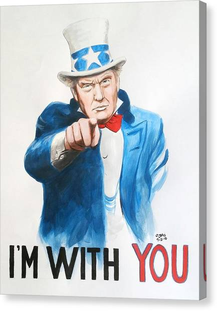 Donald Trump Canvas Print - I'm With You by Jamie Melton