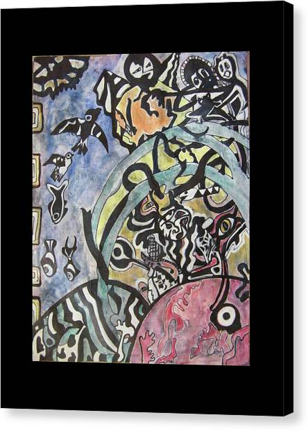 Unconscious Canvas Print - Images From The Collective Unconscious by Mimulux patricia No