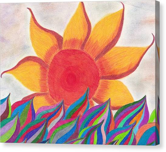Imagination's Sun Canvas Print by Laurie Gibson