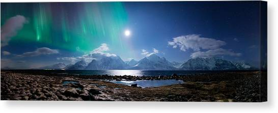 Alps Canvas Print - Imagine Auroras by Tor-Ivar Naess