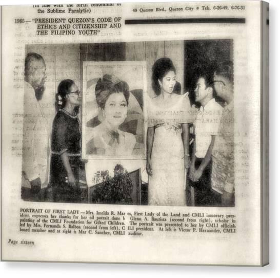 Imelda Marcos 1967 B Canvas Print