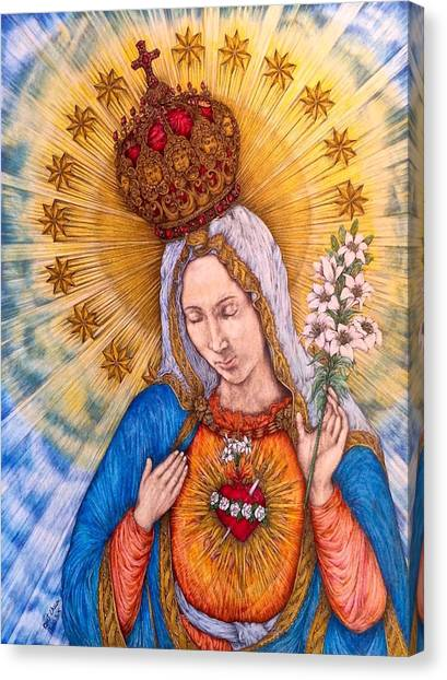 Iphone 6 Plus Canvas Print - Immaculate Heart Of Virgin Mary by Kent Chua