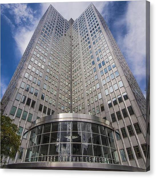 Skyscrapers Canvas Print - immerse Yourself In Your Gear And by David Haskett II