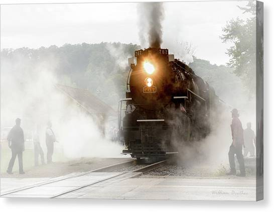 Immersed In Steam Canvas Print