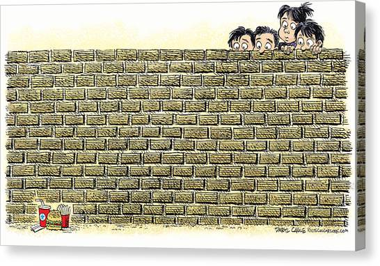 Immigrant Kids At The Border Canvas Print