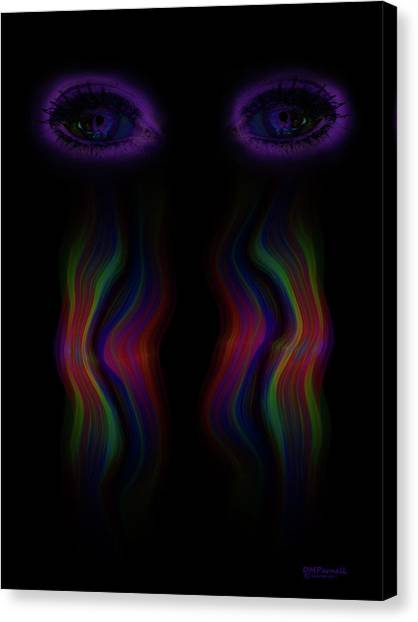 Border Wall Canvas Print - Immigrant Tears by Diane Parnell