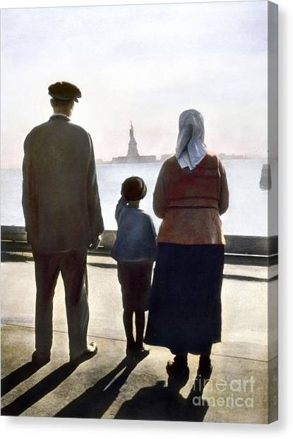 Immigration Canvas Print - Immigrants: Ellis Island by Granger
