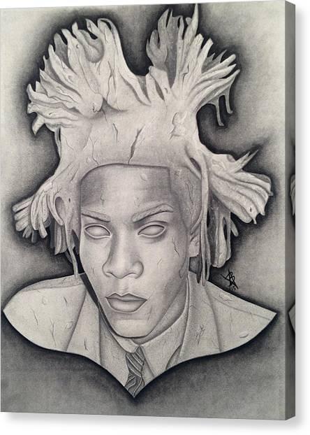 Immortalizing In Stone Jean Michel Basquiat Drawing Canvas Print