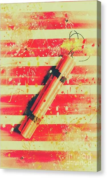 Bombs Canvas Print - Impact Blast by Jorgo Photography - Wall Art Gallery