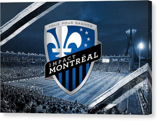 Montreal Impact Canvas Print - Impact De Montreal Imfc by Nicholas Legault