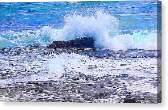 Ocean Impact In Abstract 1 Canvas Print
