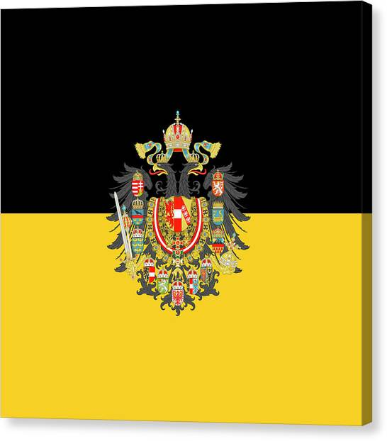 Habsburg Flag With Imperial Coat Of Arms 1 Canvas Print