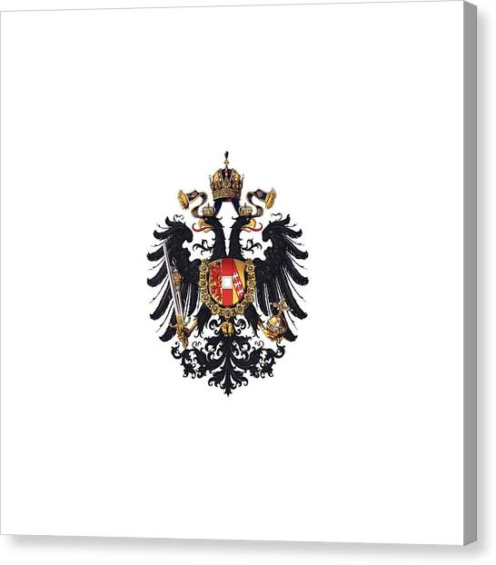 Imperial Coat Of Arms Of The Empire Of Austria-hungary 1815 Transparent Canvas Print