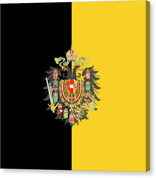 Habsburg Flag With Imperial Coat Of Arms 2 Canvas Print