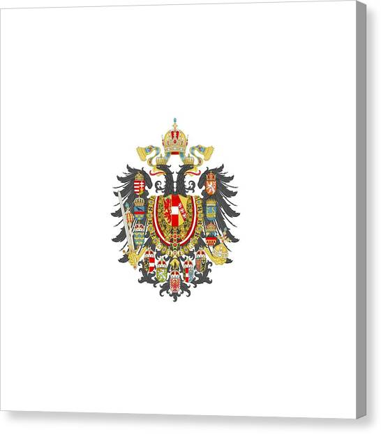 Imperial Coat Of Arms Of The Empire Of Austria-hungary Transparent Canvas Print