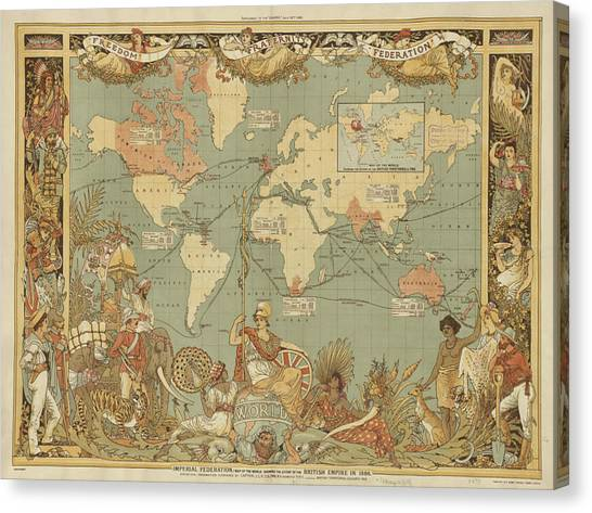 Imperial Map Canvas Print