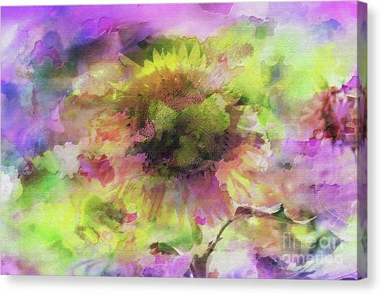Impression Sunflower Canvas Print