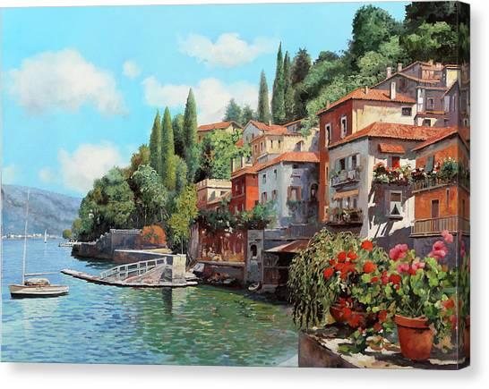 Italy Canvas Print - Impressioni Del Lago by Guido Borelli