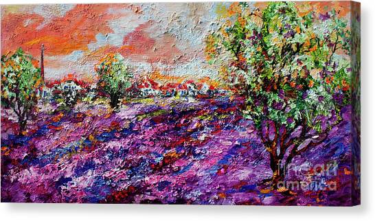Impressionist Lavender Fields Provence Canvas Print