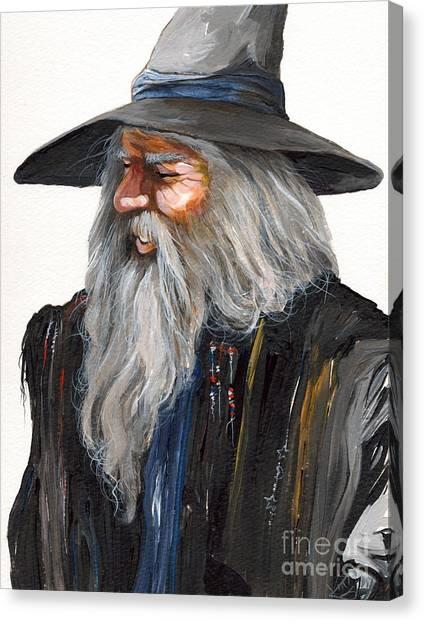 Wizards Canvas Print - Impressionist Wizard by J W Baker