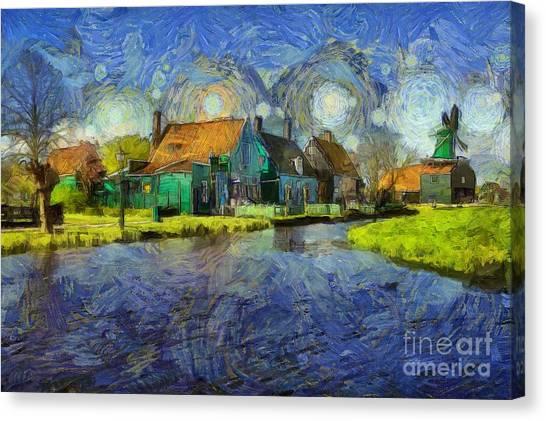 Impressions Of Zaanse Schans Canvas Print