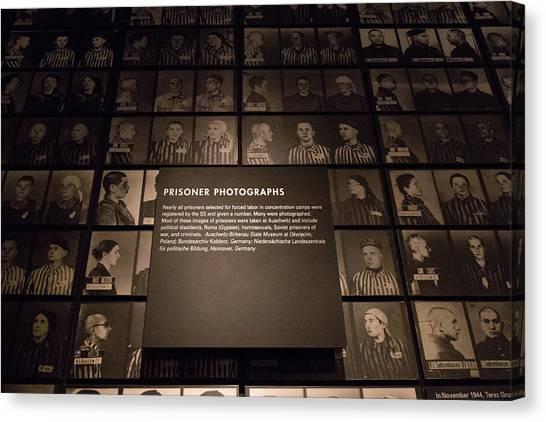 Holocaust Museum Canvas Print - Imprisoned by Debbie Orlando