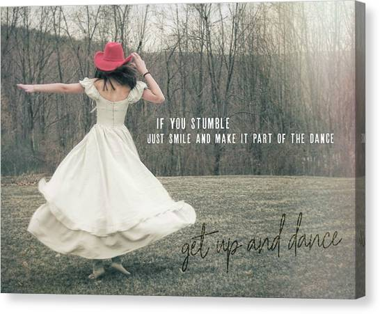 Improvise Quote Canvas Print by JAMART Photography