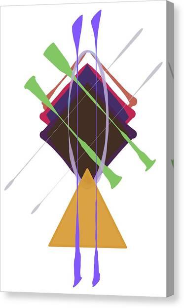 Improvised Geometry #3 Canvas Print