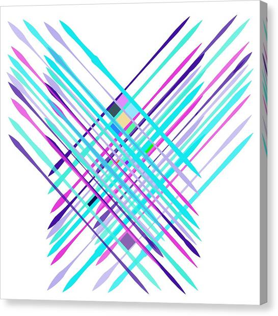 Canvas Print featuring the digital art Improvised Geometry #2 by Bee-Bee Deigner