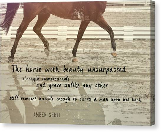 Impulsion Mirrored Quote Canvas Print by JAMART Photography