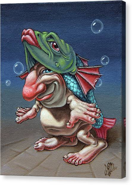 In A Fish Suit. Canvas Print
