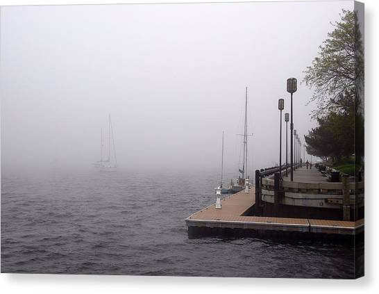 In A Fog In Newburyport Canvas Print