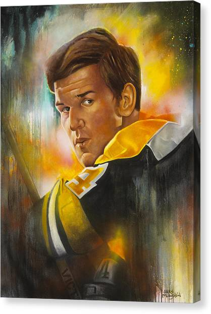 Bobby Orr Canvas Print - In A League Of His Own by Gary McLaughlin