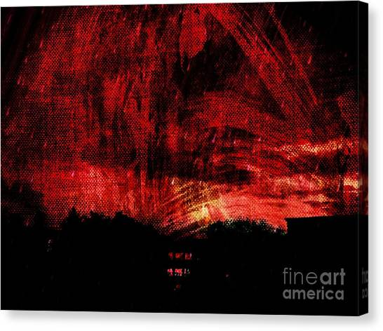 In A Red World Canvas Print