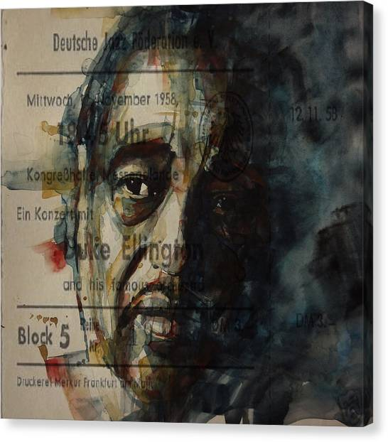 Duke University Canvas Print - In A Sentimental Mood Duke Ellington by Paul Lovering