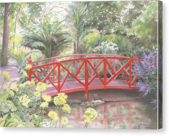 In Abbotsbury Subtropical Gardens. Canvas Print by Maureen Carter