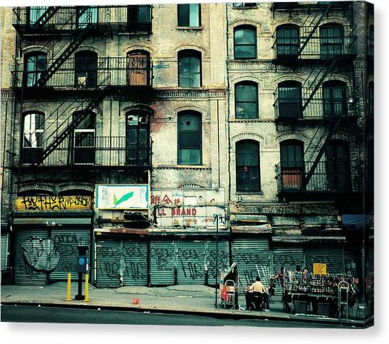 Urban Decay Canvas Print - In Another Time And Place by Vivienne Gucwa