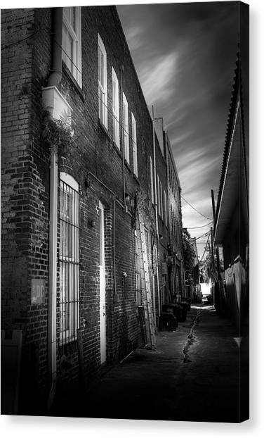 Drain Pipe Canvas Print - In Back by Marvin Spates
